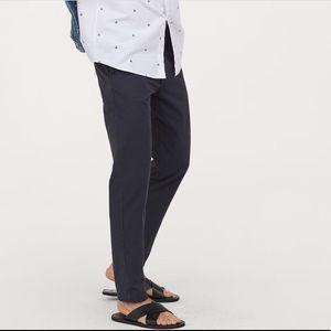 H&M slim fit blue/green khakis